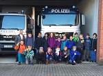 Pferdetransporter der Polizei